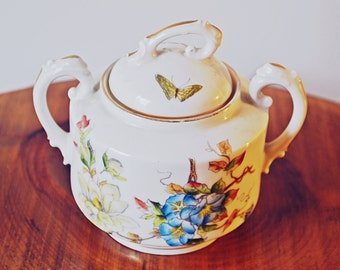Limoges France D & Co Sugar Bowl, Delinieres And Co