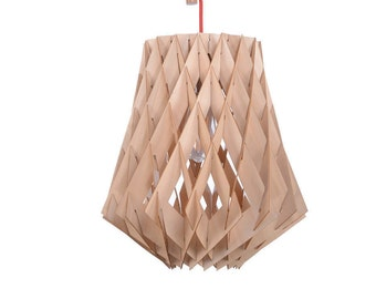 Lasercut Satinwood Plate Combined Pendant Lights-Decor Lamps-Ceiling Lights-Wooden Lights-Bar Lighting-Kitchen Light-Industrial Chic Lamps