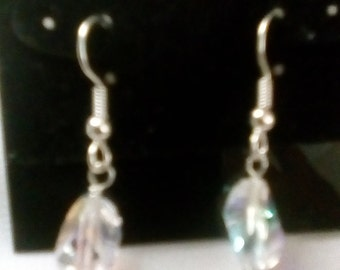 Rainbow shimmer finish Swarovski dangles