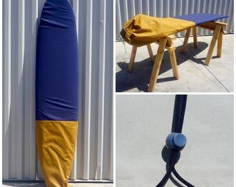 Custom Canvas Surfboard / Surfboard Sock - Mr. Handsome  DISCOUNT