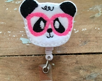 Nerdy Panda ID badge reel holder retractable clip