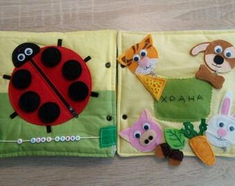 Quiet book,Quiet Busy Book, Toddler Quiet Books, Fabric Activity Book , Montessori Toddler, Baby Quiet Books, Kids Gift ( 1 - 6 years)
