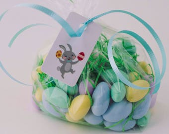 Easter Gift Tags - (3 tags) Personalized Easter Basket Tag, Easter Bunny Bag Tag, Children's Easter Basket Tag, Custom Easter Gift Bag Tag