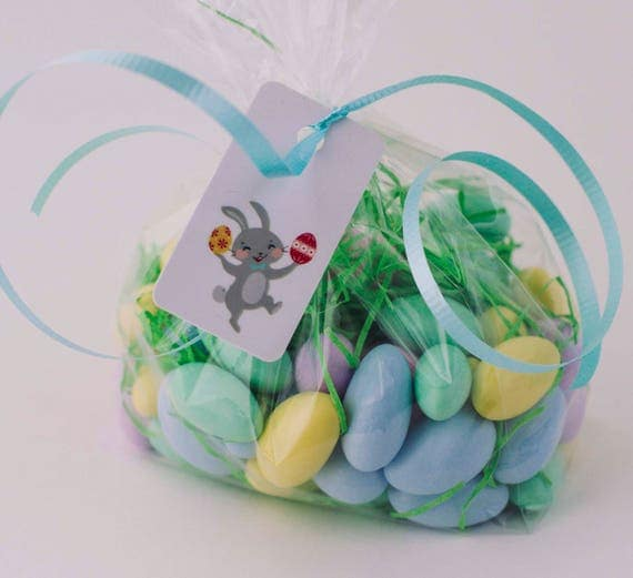 Easter gift tags 3 tags personalized easter basket tag like this item negle Images