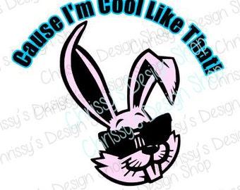 Easter Rabbit SVG / cool rabbit svg / bunny svg / easter cut file / easter dxf / easter svg / easter clip art / easter rabbit silhouette