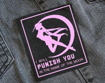 Sailor Moon patch 'I will punish you in the name of the Moon'