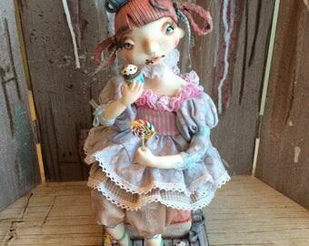 ooak Moppiedoll Art doll cupcake Candy