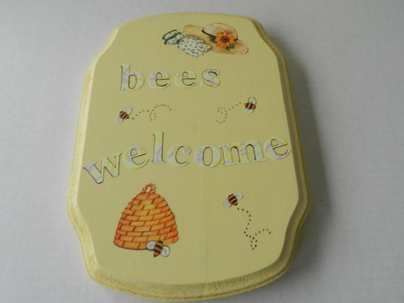 Bee Signs Bees Welcome Bumble Decor