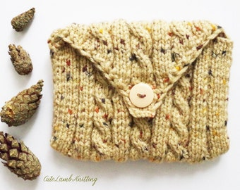 Knitted bag, knitted Purse, knitted pouch, knitted change purse, knit bag, handmade pouch, handmade purse, handmade bag, вязаная сумочка