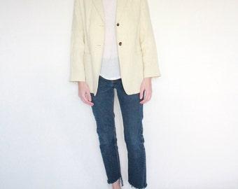 Vintage Women linen blazer | size 4 - small