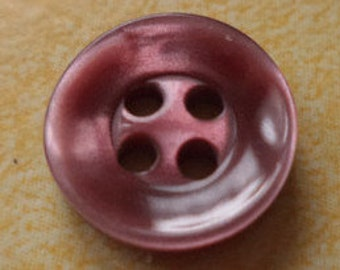 12 small red buttons 12mm (76) dark red