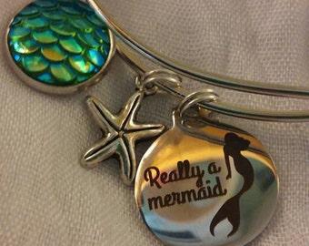 Really A Mermaid Bangle Bracelet