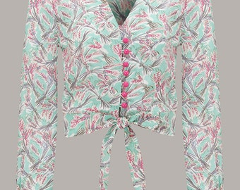 40's Vintage Inspired 'Clarice' Blouse in Mint Harvest by The Seamstress of Bloomsbury