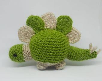 Crochet Dinosaur stegasaurus handmade plush