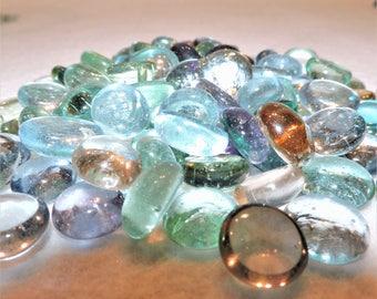 Sea Colors Clear Glass Stones - Glass Rocks