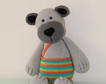 Crochet Amigurumi stuffed Stip en Haak teddy bear