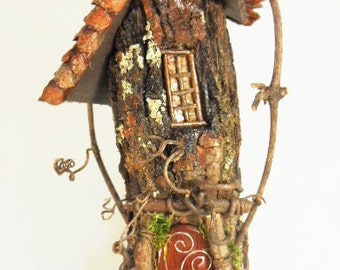 Fairy House, Fairy Garden House, Gnome House, gnome garden house, handmade fairy house, wood fairy house, outdoor fairy house, pixie house