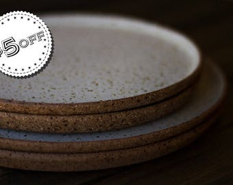 Moonscape Plates Ready to Ship - ON SALE - dinner plate, side plate, stoneware plate