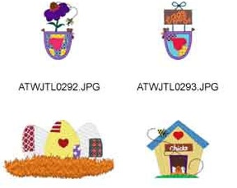 Country-Chicks ( 8 Machine Embroidery Designs from ATW ) XYZ17C