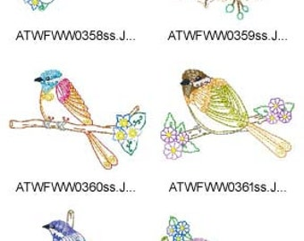 Chickadees ( 10 Machine Embroidery Designs from ATW ) XYZ17C