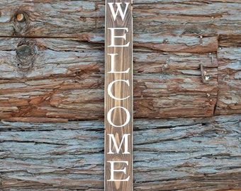WELCOME Sign | Wood Signs | Home Decor | Welcome Wood Sign | Entryway Sign | Rustic Decor | Farmhouse Sign | Porch Sign