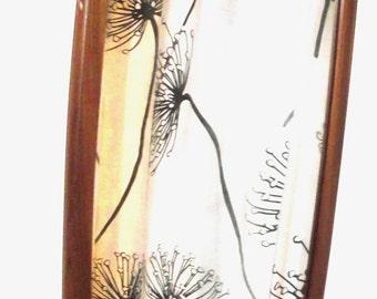 VINTAGE RETRO Scandinavian Teak Framed Mirror, 1950s-1960s home decor