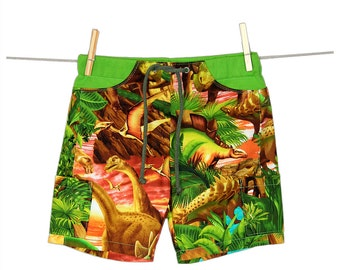 Dinosaur Sunrise Unisex Pocket Shorts