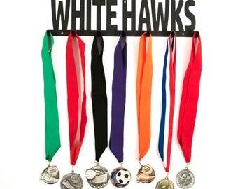 White Hawks, White Hawks Sign, White Hawks Medal Display, White Hawks Key Holder, White Hawks Medal Holder, Sports Medal Holder