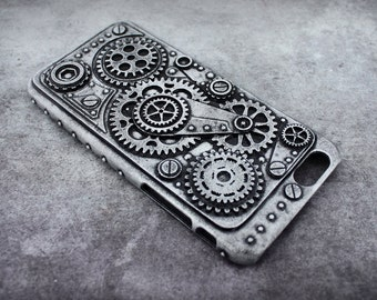 Steampunk dieselpunk industrial protective cover case for Iphone 6