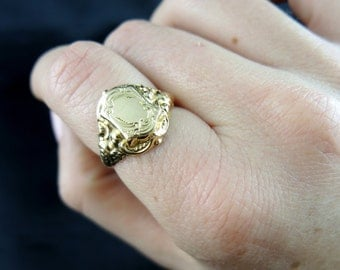 Bague Charles X en or - XIXe siècle /// Charles X gold ring - 19th century