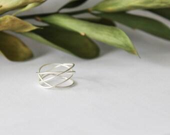 Sterling Silver Wrap Ring, Silver Wrap Ring, Silver Wraparound Ring, Silver Coil Ring, Thin Silver Ring, Silver Ring, Minimalist Ring
