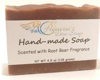 Handmade Root Beer Fragrance Soap, Cold Process, Bridal Shower, Wedding Favor, Baby Shower, Wholesale Available, Bitcoin Accepted