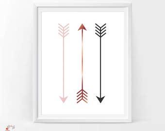 Arrow Wall Art arrow wall decor | etsy