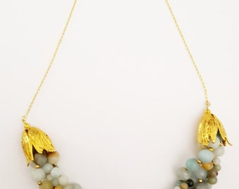 "Necklace ""Amazonite braid"""