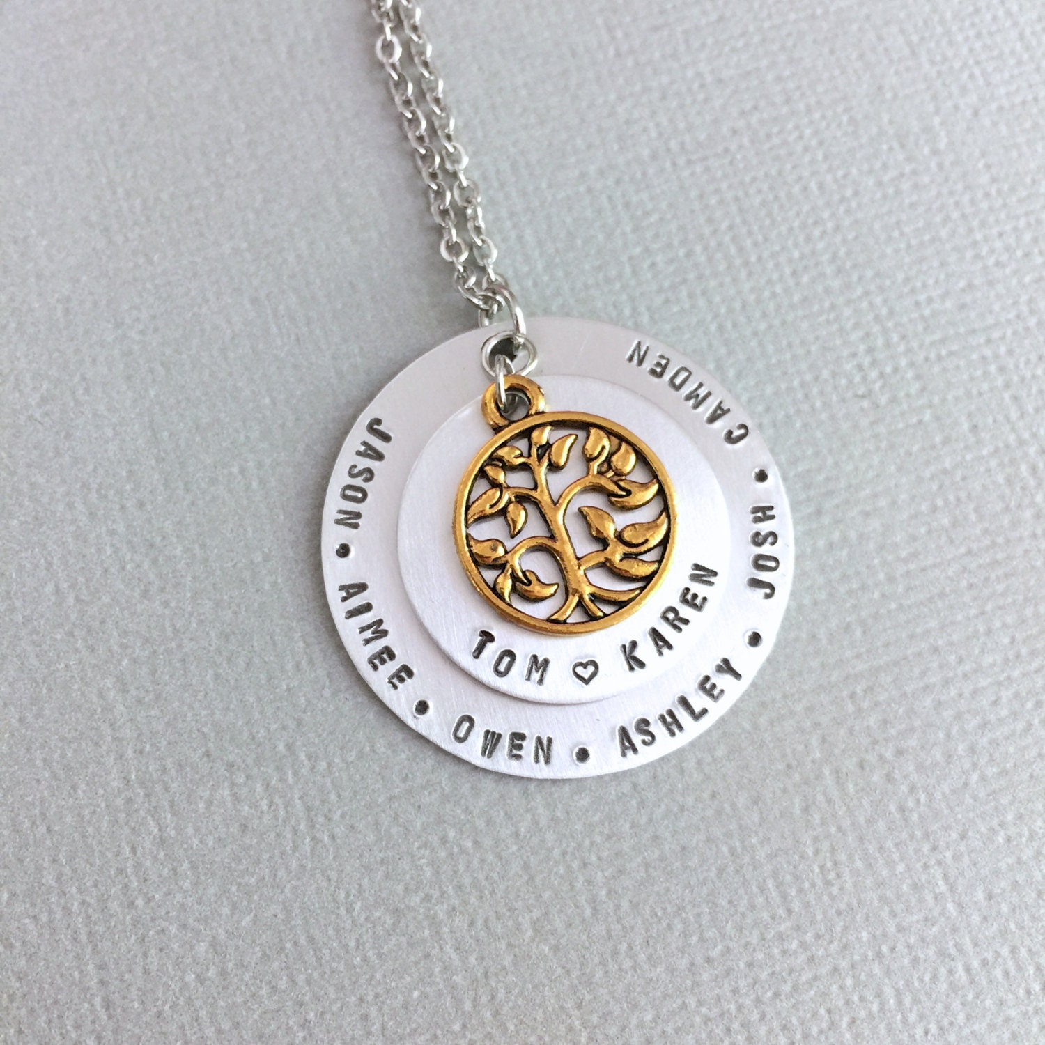 personalized family tree necklace mother necklace. Black Bedroom Furniture Sets. Home Design Ideas