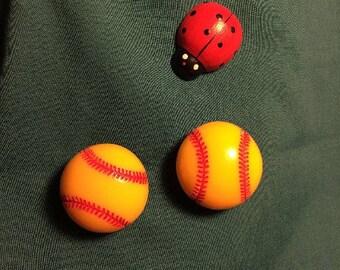 Cute Large Softball  Soft Ball Women Sports Clog Shoe Charms