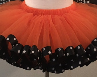 Orange Teen and Adult Tutu Skirt, Plus Size, Adult, Teen, Polka Dot, Custom Size, Oregon Beaver, Halloween, Thanksgiving, Dance