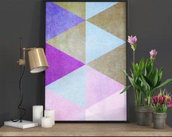 Wall Art Poster Geometric Print Wall Art Print Art Geometric Wall Art Prints Geometric Poster Minimalist Poster