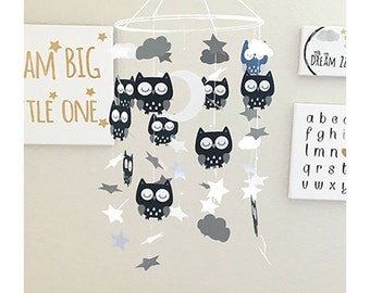 Owl Baby Mobile - Owl Nursery Mobile - Owl Crib Mobile - Owl Mobile - Owl Nursery - Owl Nursery Decor- Baby Shower Gift - Baby Crib Mobile