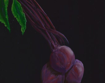 RED BEETS  paintings of beets  vegetable paintings  still life paintings  beets kitchen decor