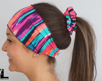 Multi pink/purple hair band