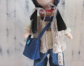fabric doll handmade, rag doll, tilda doll, cloth doll, creative doll, fabric doll, doll for gift, cute doll, decor for home, textile doll