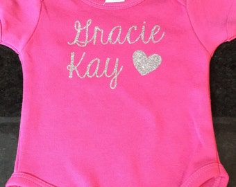 Name Baby Onesie, Personalized Baby Onesie, Name Baby Bodysuit, Personalized Baby Bodysuit Outfit