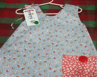 Baby Toddler Girl Christmas Sweet Pocket Pinafore Tunic Top Size 3T