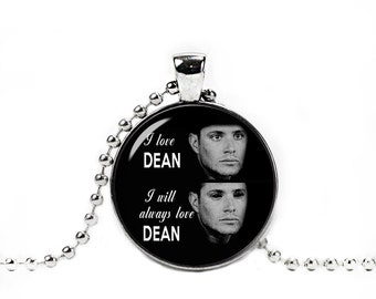 Demon Dean Supernatural Dean Winchester Necklace Pendant Supernatural Jewelry Geeky Fangirl Fanboy