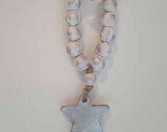 Holiday White Tantinet Series Bibelot Blessing Beads|Home Decor|Hand Painted|Gift