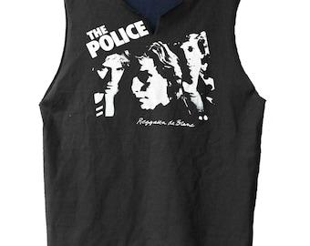 Reggatta De Blanc - The Police raw edge muscle shirt
