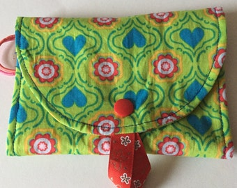 Hair clip pouch storage Barrettes gift green red