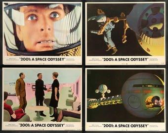 2001: A Space Odyssey (1968) Original R72 Lobby Cards - Set of 6