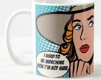 Funny POP ART, pop culture coffee mug, Feminist, Nasty Woman, Feminisim Funny Coffee Mug, 50's Mug, Retro Mug, Birthday Gift, Pop Culture